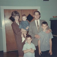 Reception for Dunn family when leaving the Munger Place Baptist Church to come to MacArthur Blvd. Baptist Church in 1966
