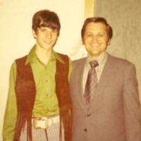 Ron Sr. and Ronnie Jr. the night Ronnie Jr. surrendered to the ministry