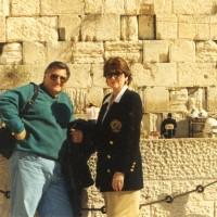 Ron & Kaye at the Western Wall in Jerusalem