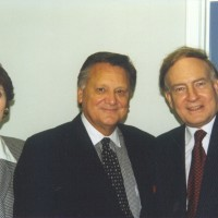 Ron & Kaye with Richard Bewes, Rector of All Souls Church in London, England