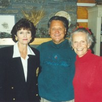 Ron & Kaye with Ruth Graham on a visit to the Cove in Asheville, NC