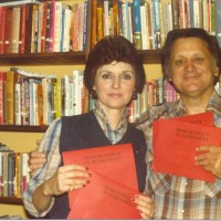 Ron & Kaye with their very first book contracts