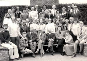 Ron & Kaye with the Filey Convention speakers and personnel in England