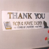 Ron & Kaye's 40th Year in Ministry celebration