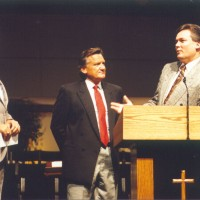 Ron, Michael Catt, & Tom Pollock at Sherwood Baptist Church in Albany, GA