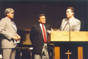 Ron, Michael Catt, & Tom Pollock at Sherwood Baptist Church in Albany, GA