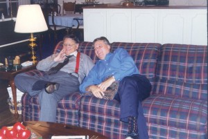 Ron & Michael Catt relaxing after a Bible Conference service