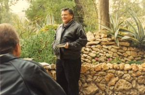 Ron Speaking In the Garden of Gethsemane