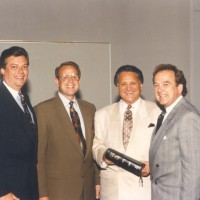 Ron celebrating his 40th year of ministry with Michael Catt, Tom Elliff, & George Harris.