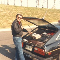 Ron packing his little Datsun ZX for another road trip