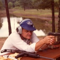 Ron target shooting at his farm in Greenwood, AR