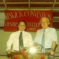 Ron with Dr. George Duncan, Glasgow, Scotland, at the Keswick Convention.