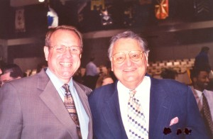 Ron with Tom Elliff, pastor of First Baptist Church Dell City, OK, three weeks before Ron's homegoing