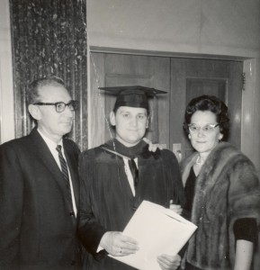 Ron with his mother and father at his seminary graduation from SWBTS in Fort Worth, TX