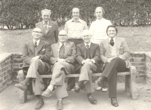 Ron with the Filey Convention speakers and personnel in England