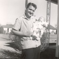 Ron with their first child, Ronnie, Jr.
